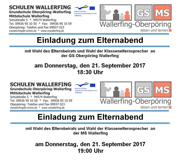 home - grund- und mittelschule wallerfing - oberpöring, Einladung
